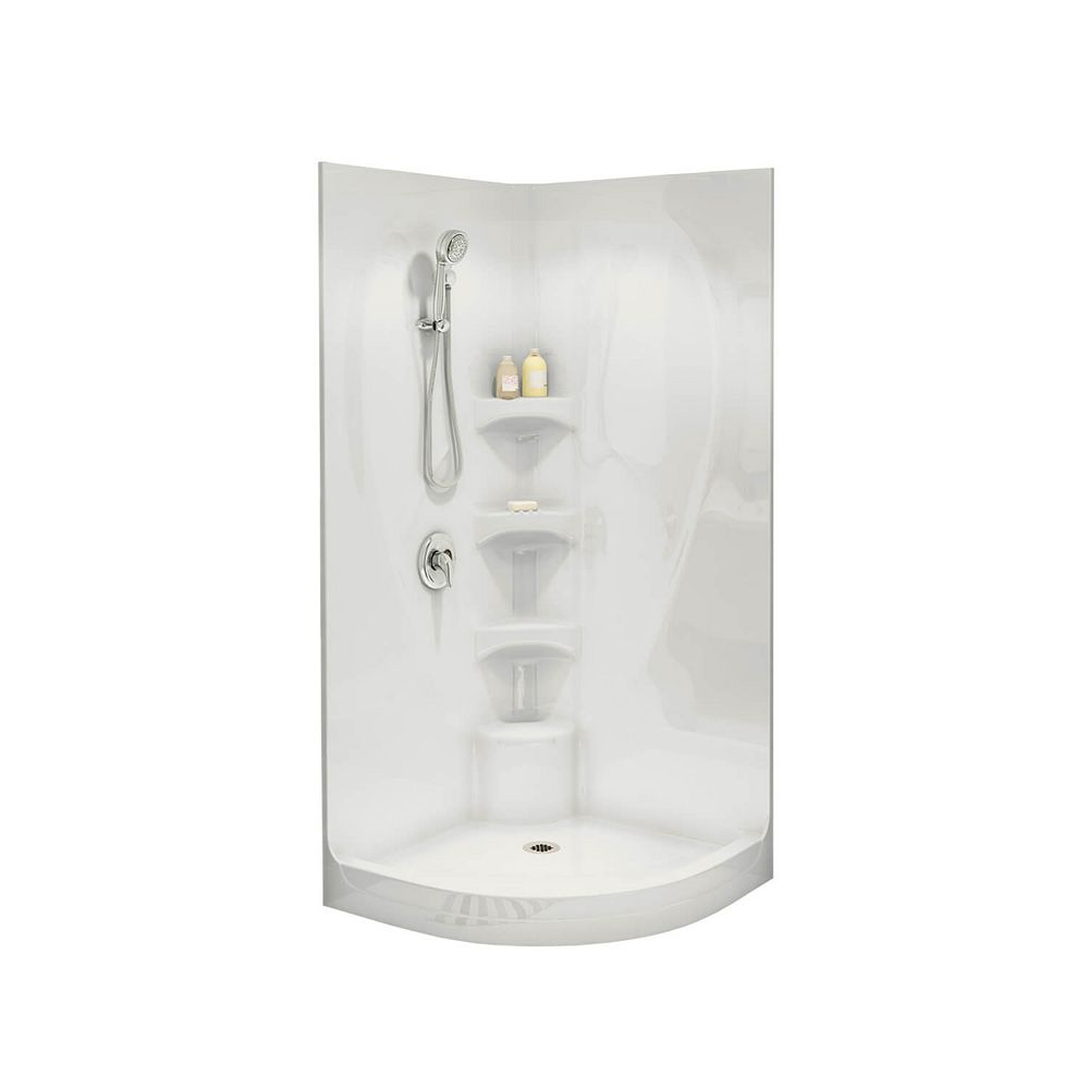 MAAX Equinox I 1-Piece Neo-Round Shower Stall in White