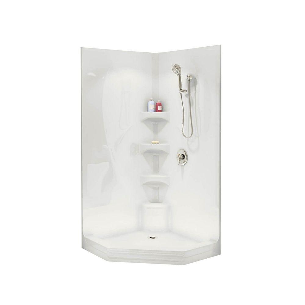 MAAX Equinox II 1-Piece Neo-Angle Shower Stall in White