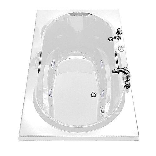 Antigua Acrylic Bathtub with Combined Hydrosens/Aerosens and Polished Chrome Grab Bars