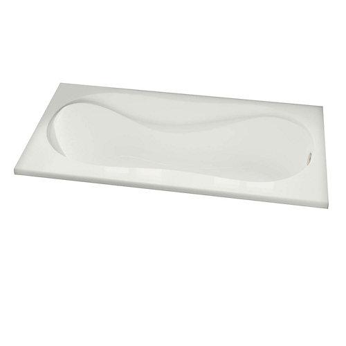 Cocoon Acrylic Soaker Bathtub in White