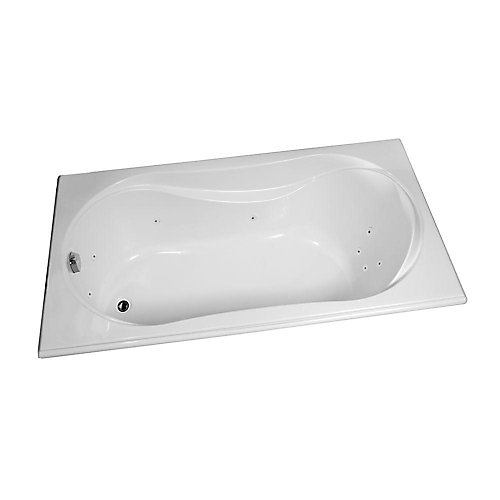 Cocoon Acrylic Whirlpool Bathtub with 10 Microjets in White