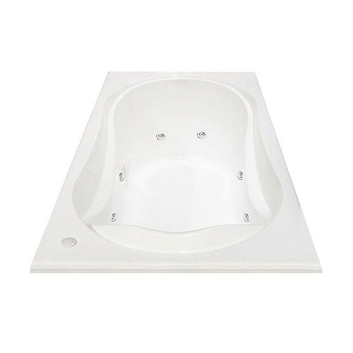 Cocoon Acrylic Whirlpool Bathtub with Hydrosens in White