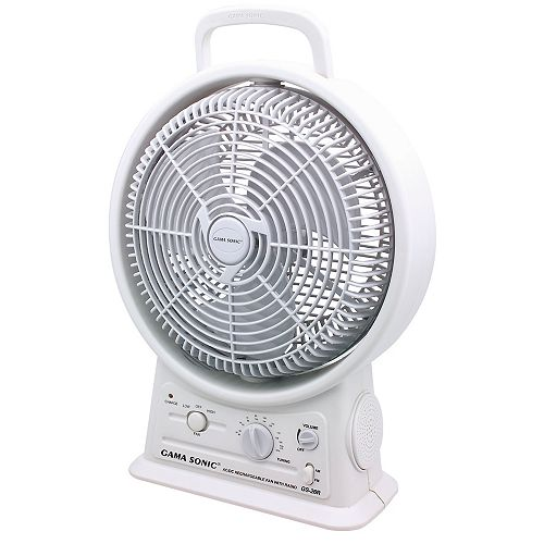 Rechargeable Fan with AM/FM radio