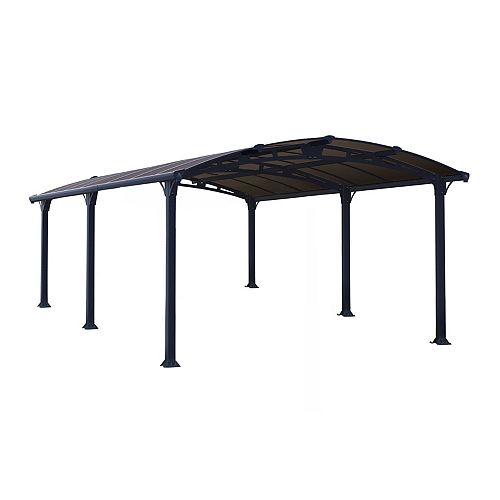 Palram Arcadia 5000 Carport / All-Seasons Shelter  -  12 ft. x 16.6 ft.