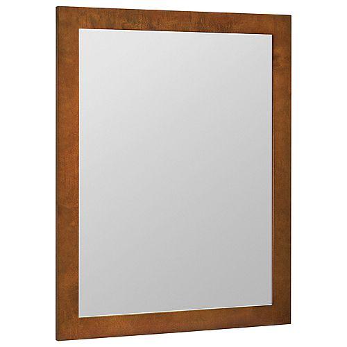 Miroir mural couleur châtaigne - 24 po x 31 po