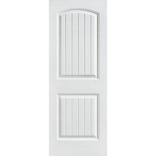 Masonite 36-inch x 80-inch Primed 2 Panel Plank Smooth Interior Door Slab