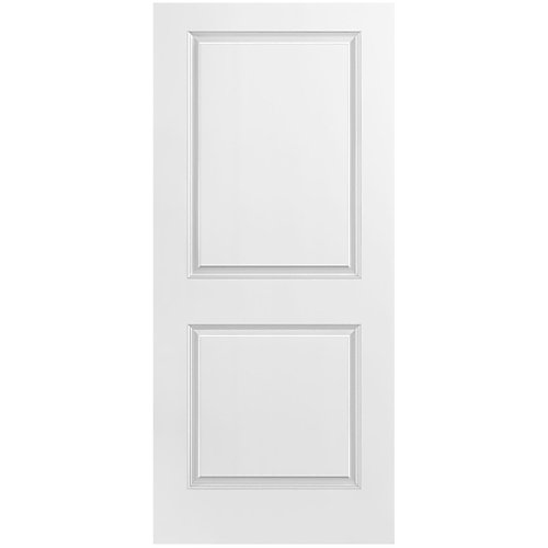 36-inch x 80-inch Primed 2 Panel Plank Smooth Interior Door Slab