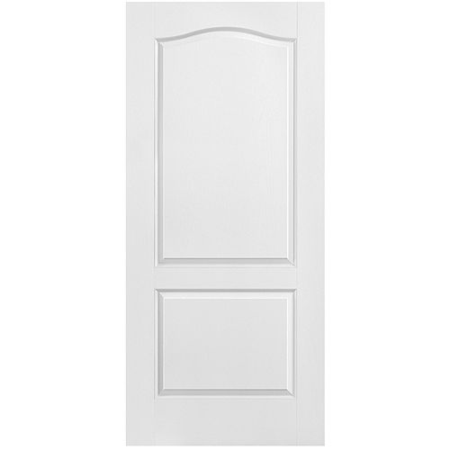 Masonite 36-inch x 80-inch Primed 2-Panel Arch Top Textured Interior Door Slab