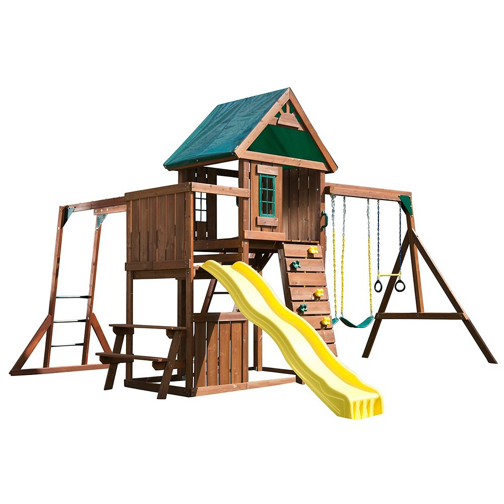 Swing-N-Slide Structure de jeu en bois complète Chesapeake