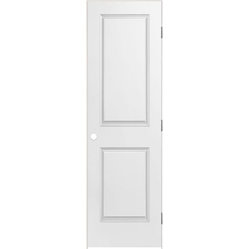 Masonite 24-inch x 80-inch Righthand Primed 2-Panel Smooth Prehung Interior Door with Rabbeted Jamb