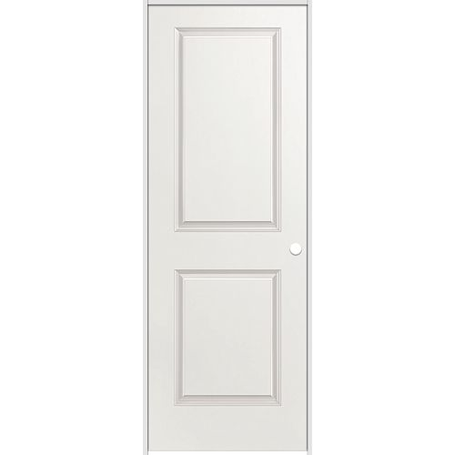 La porte intérieure prémontée 2 panneaux lisse avec rabbeted jamb  30 pouces x 80 pouces ouverture gauche
