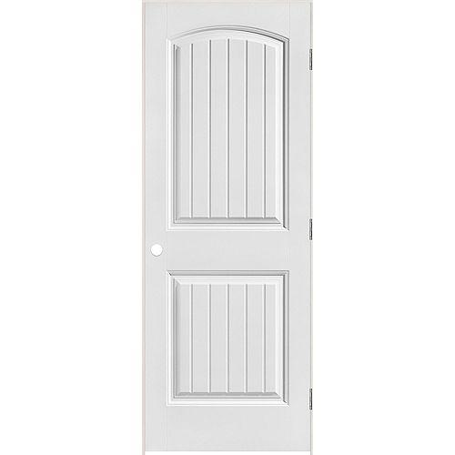 Masonite Porte intérieure prémontée 2 panneaux planches avec rabbeted 36 pouces x 80 pouces, ouverture droite