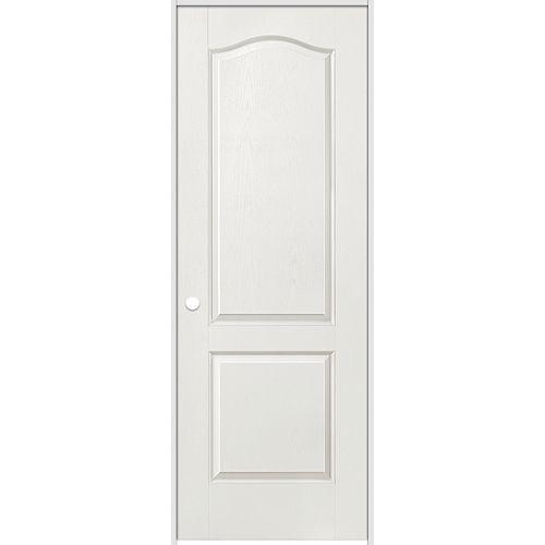 Masonite Porte intérieure prémontée 2 panneaux arché texturé 36 pouces x 80 pouces ouverture droite
