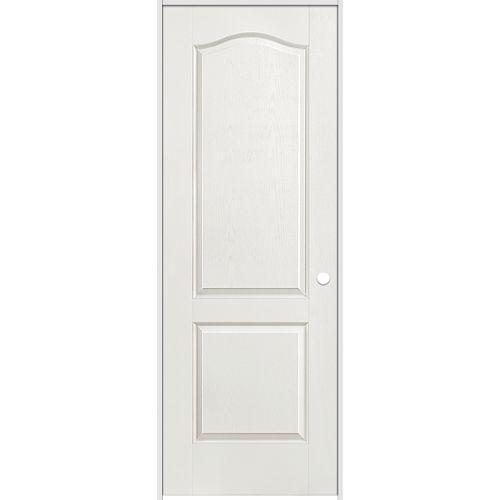 Porte intérieure prémontée 2 panneaux arché texturé 36 pouces x 80 pouces ouverture gauche