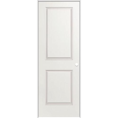 Masonite La porte intérieure prémontée 2 panneaux lisse avec rabbeted jamb  36 pouces x 80 pouces ouverture gauche