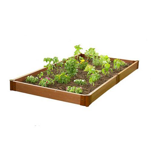 Lit de jardin surélevé Classic Sienna sans outils, profil 4  pi x 8 pi  x 5.5 po
