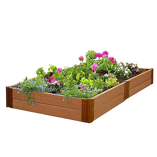 Tool-Free Classic Sienna Raised Garden Bed 4 ft. x 8 ft. x 11 inch  2 inch profile