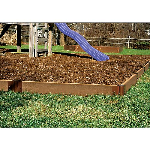 64 ft. x 5 1/2-inch x 2-inch Composite Wood Playground Border Kit