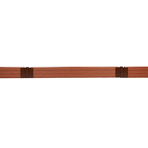 Tool-Free Classic Sienna Straight Landscape Edging Kit 16 ft. - 2 inch profile