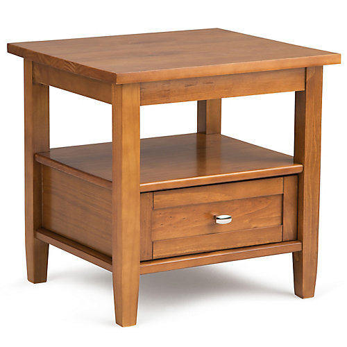 Warm Shaker End Table