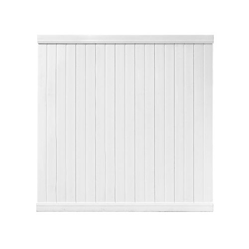 72 Inch x 72 Inch Pre-Assembled Vinyl Fence Panel - White