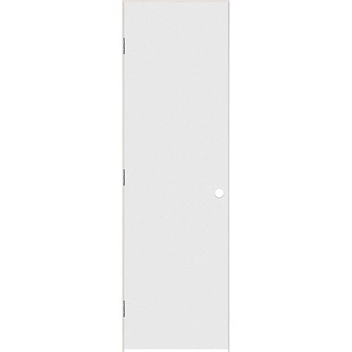 Masonite 24-inch x 80-inch Primed Hardboard Smooth Left Hand Pre-hung Interior Door with Rabbeted Jamb