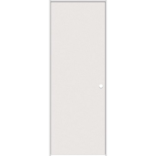 30-inch x 80-inch Primed Hardboard Smooth Left Hand Pre-hung Interior Door with Rabbeted Jamb