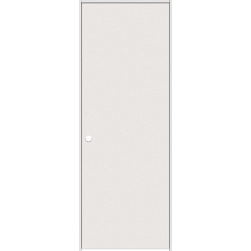 30-inch x 80-inch Primed Hardboard Smooth Right Hand Pre-hung Interior Door with Rabbeted Jamb