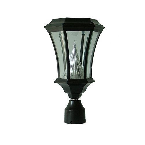 Lampe solaire victorienne noire, montage d'ajustage de 3po