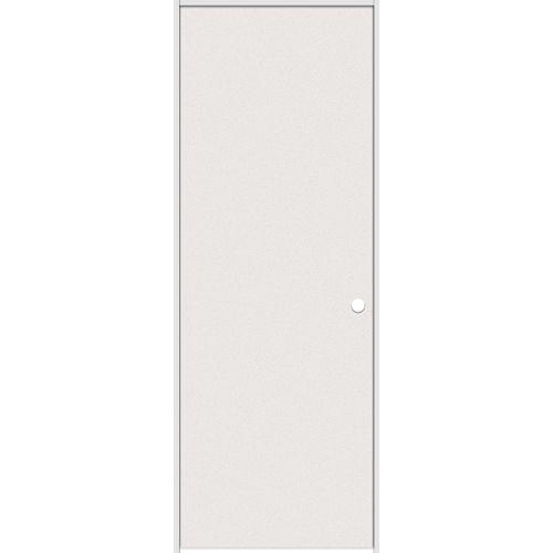 Porte intérieure prémontée rigide apprêté 28 pouces x 80 pouces ouverture gauche
