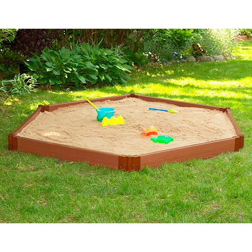 7 ft. x 8 ft. x 6-inch Hexagon Sandbox