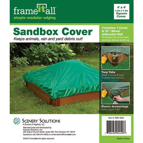 4 ft. x 4 ft. Square Sandbox Cover