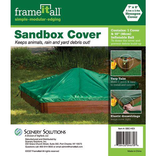 7 ft. x 8 ft. Hexagon Sandbox Cover