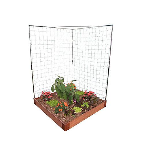 Empiler et étendre le mur végétarien