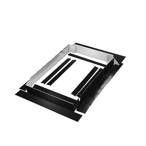 Curb Mount Flashing Kit - 28 Inch Black