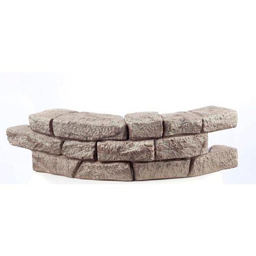 Rock Lock-Mur pour plate-bande, 1 pièce courbée