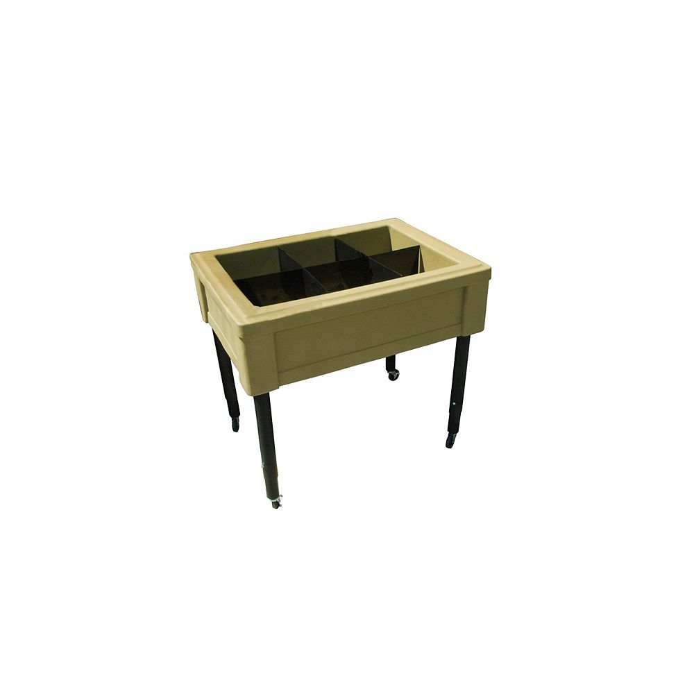 RTS Home Accents Garden Table, Adjustable Legs, Oak