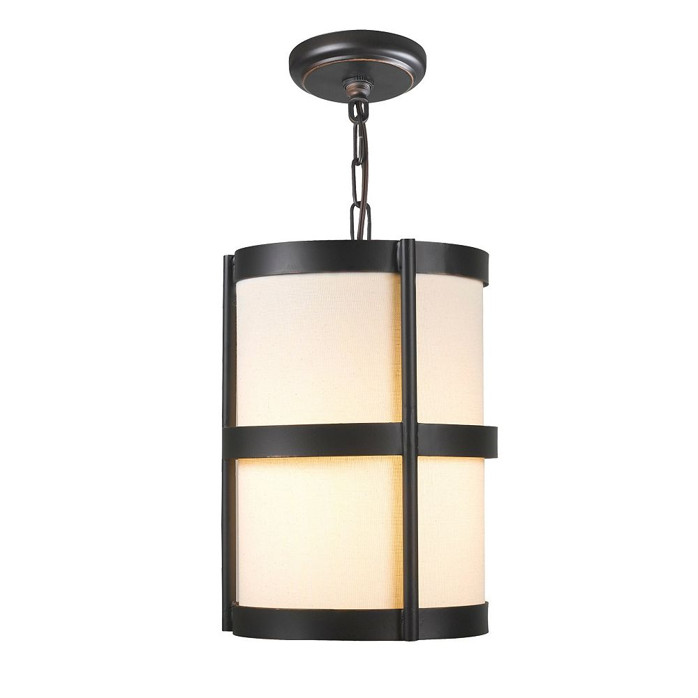 World Imports Edmonton Collection 1-Light Euro Bronze Pendant