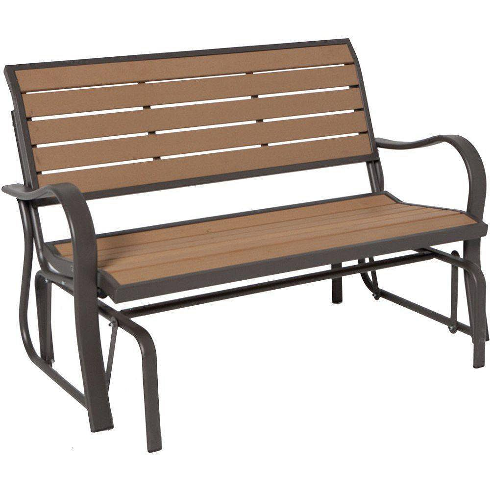 Lifetime Wood Alternative Outdoor Glider Bench