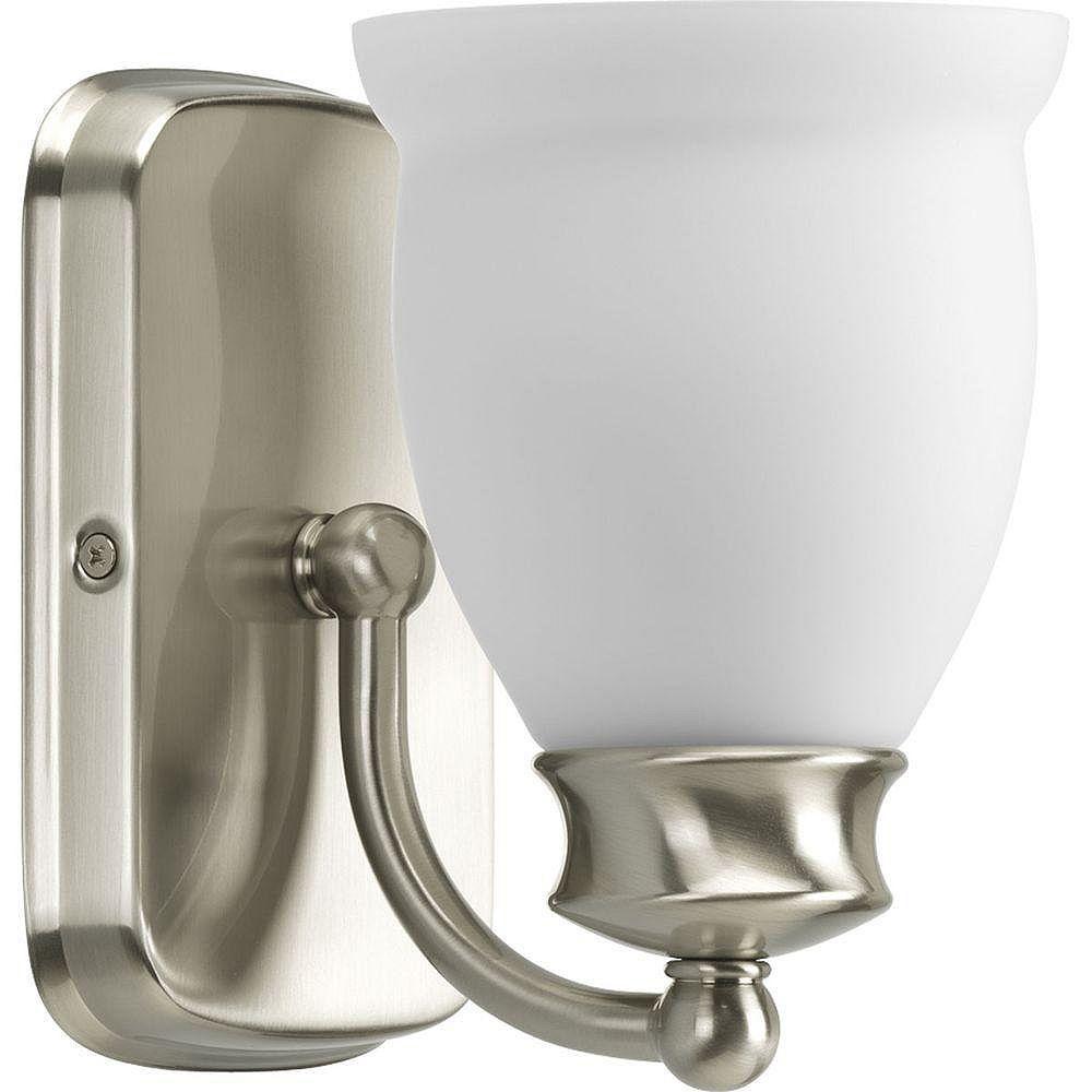 Progress Lighting Leeland Collection Brushed Nickel 1-light Vanity Fixture