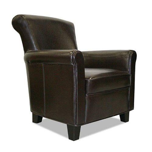 Sterling Dark Brown Bicast Leather Club Chair
