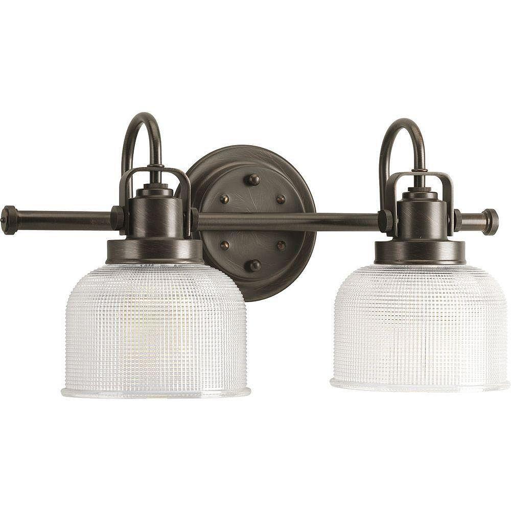 2 Light Venetian Bronze Vanity, Home Depot Canada Bathroom Vanity Lights