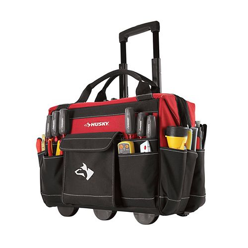 18-inch Rolling Tool Storage Tote