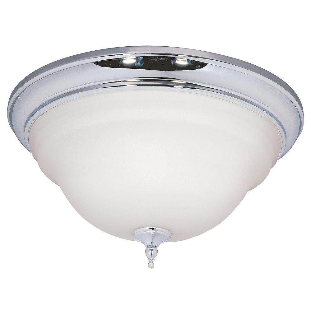 World Imports Luminaire affleurant à trois lampes au fini chrome, 15 po