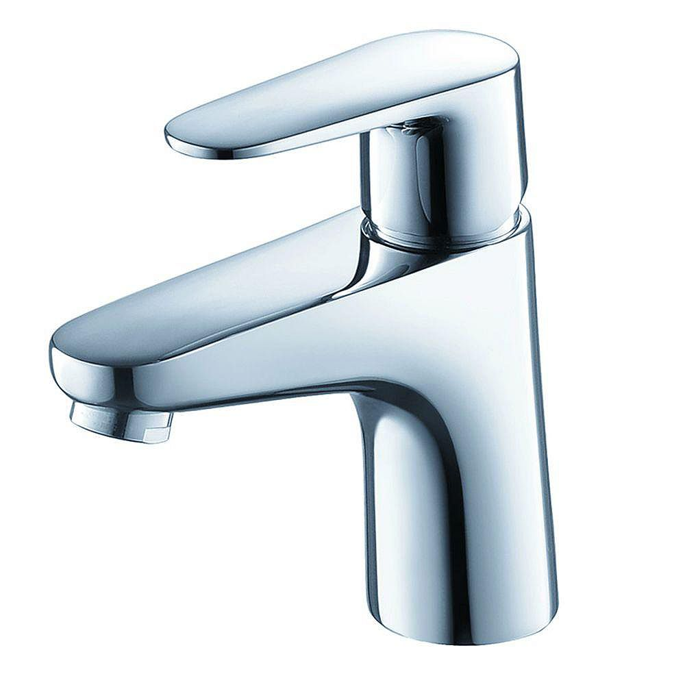 Fresca Diveria Single Hole 1-Handle Low Arc Bathroom Faucet in Chrome with Lever Handle