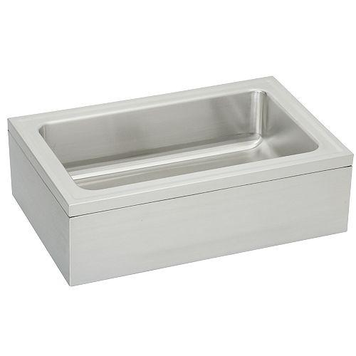 Elkay Poste de lavage/évier de plancher à cuve simple pour animaux domestiques