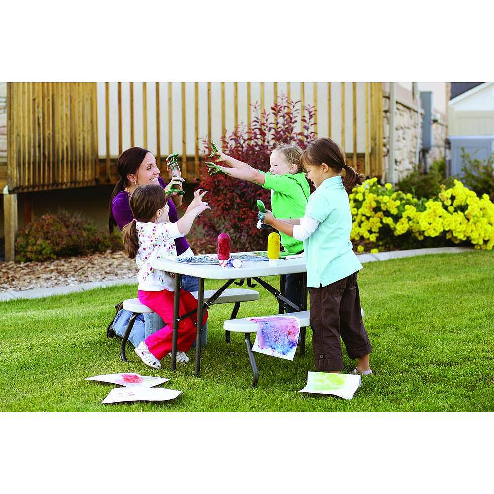 Lifetime 35-1/2-inch x 32-1/2-inch Kids Picnic Table with Benches