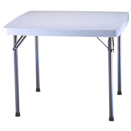 Table de pique-nique carrée 92,5 cm (37 po) (blanc)
