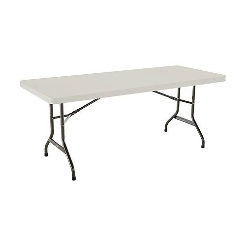 6-Foot Almond Commercial Grade Folding Table