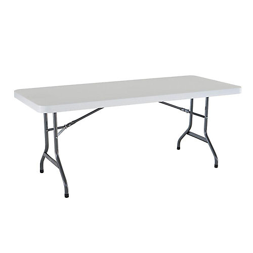 6 ft. Plastic Folding Banquet Table in Granite